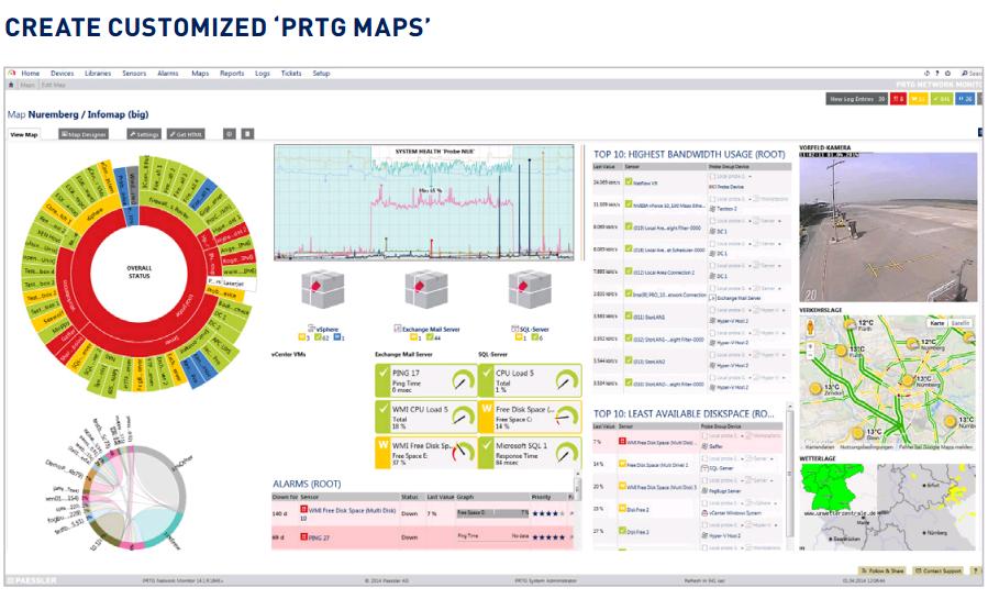 map custom prtg