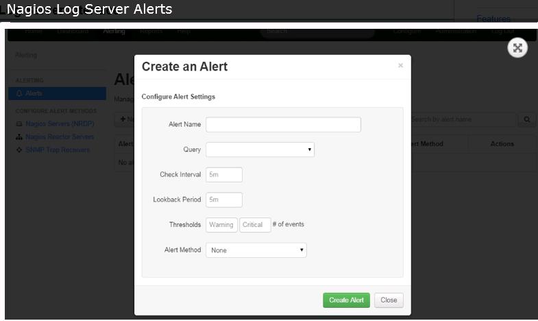 Nagios Log Server Alerts