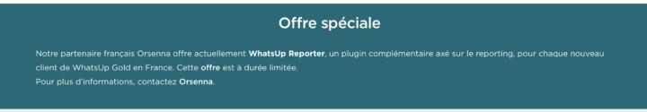 offre speciale whatsup reporter soutenue par Progress